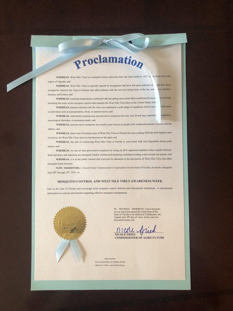 WNV Proclamation Florida - Copy-min